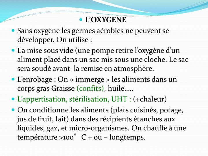 L'OXYGENE
