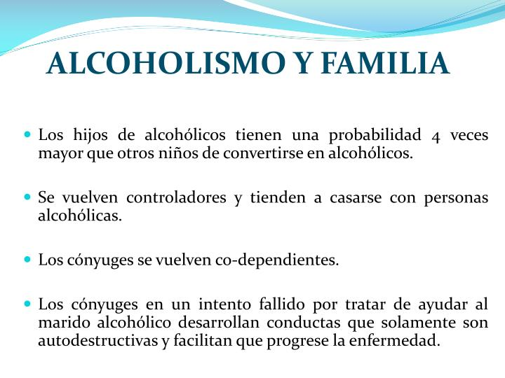 ALCOHOLISMO Y FAMILIA