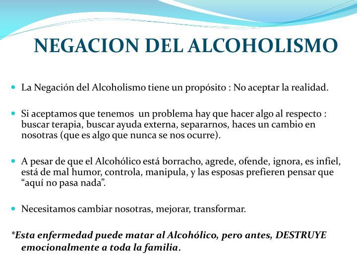 NEGACION DEL ALCOHOLISMO
