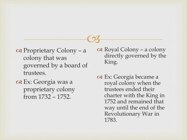 PPT - The Royal Colony of Georgia PowerPoint Presentation ...