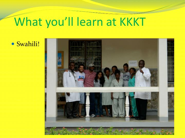 What you'll learn at KKKT