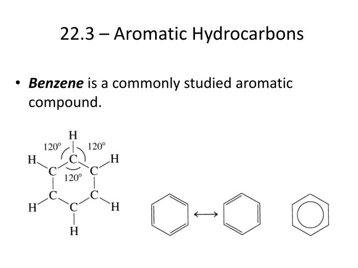 22.3 – Aromatic Hydrocarbons