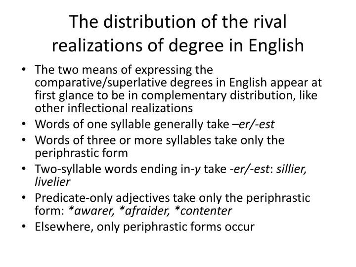 The distribution of the rival realizations