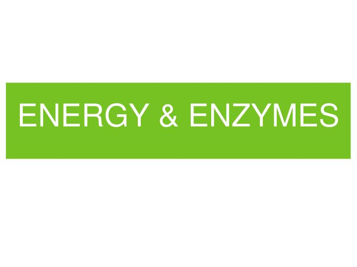 Energy enzymes