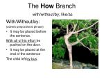 the how branch with without by like as