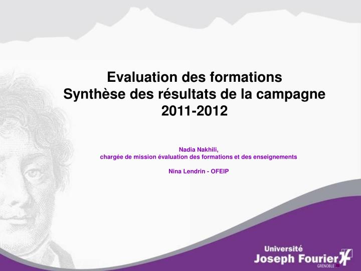 Evaluation des formations