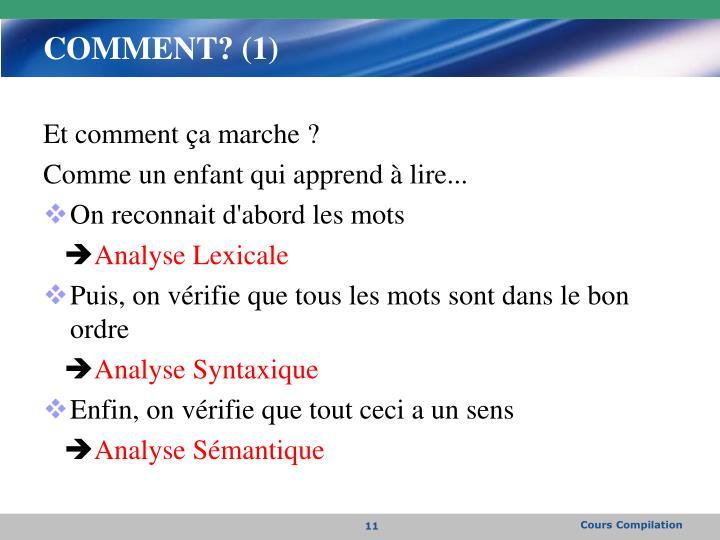 COMMENT? (1)