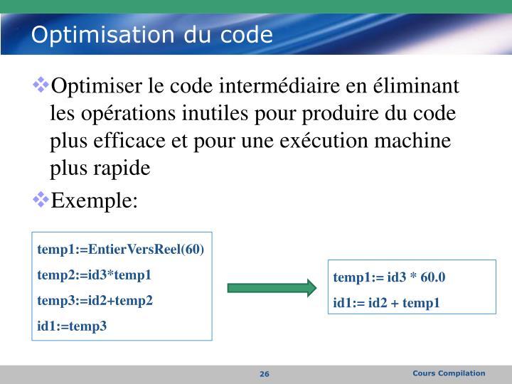 Optimisation du code
