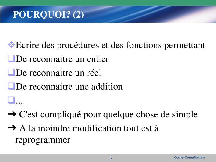 POURQUOI? (2)