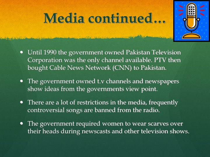 Media continued…