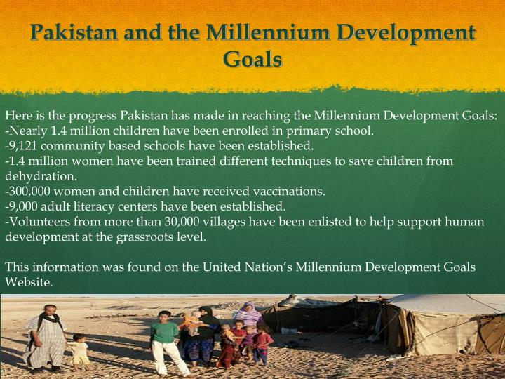 Pakistan and the Millennium Development Goals