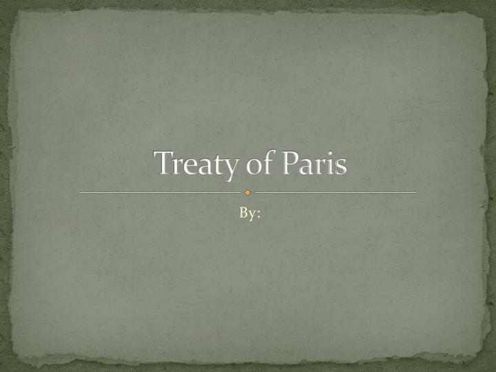 Treaty of p aris