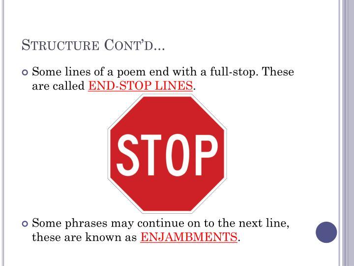 Structure Cont'd...
