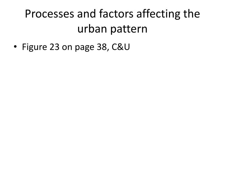 Processes and factors affecting the urban pattern