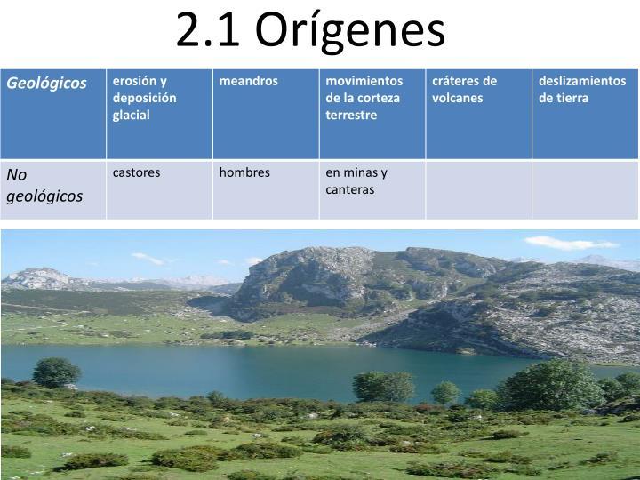 2.1 Orígenes