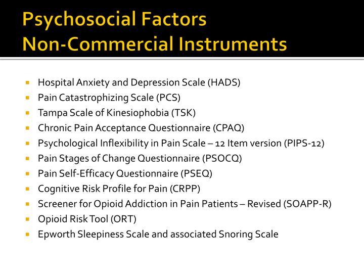 what does psychosocial factors mean
