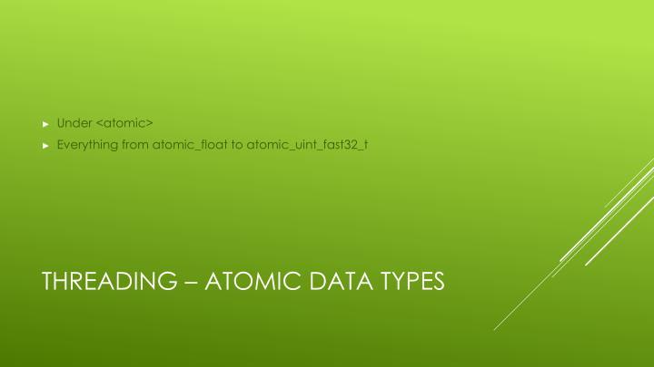 Under <atomic>