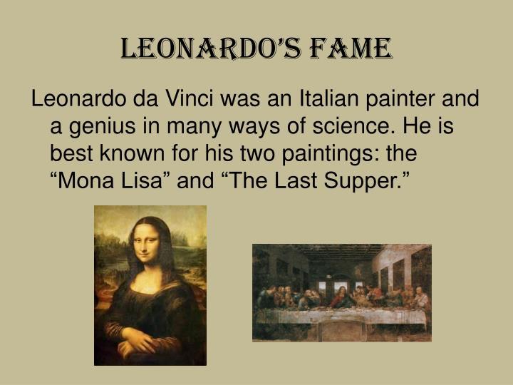 Leonardo's Fame