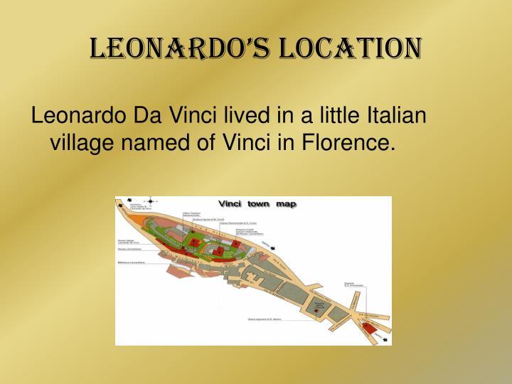 Leonardo's Location