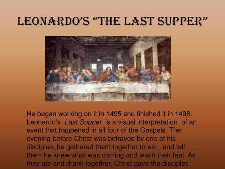 "Leonardo's ""The Last Supper"""