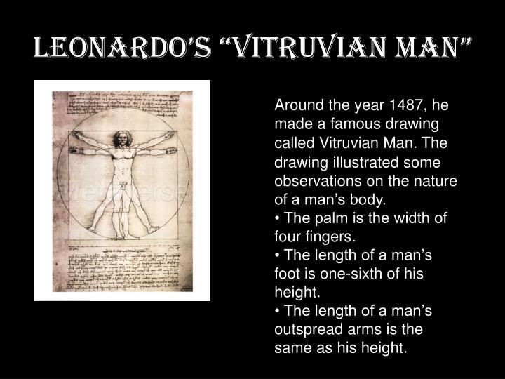 """Leonardo's """"Vitruvian Man"""""""