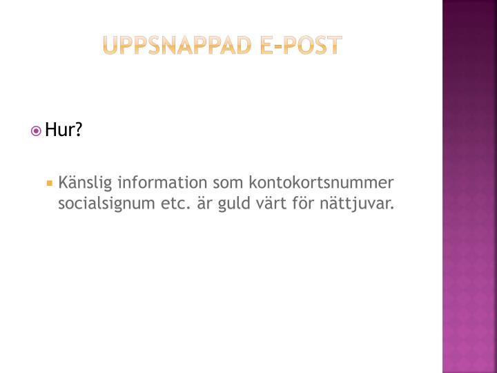 Uppsnappad e-post
