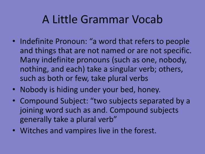 A Little Grammar
