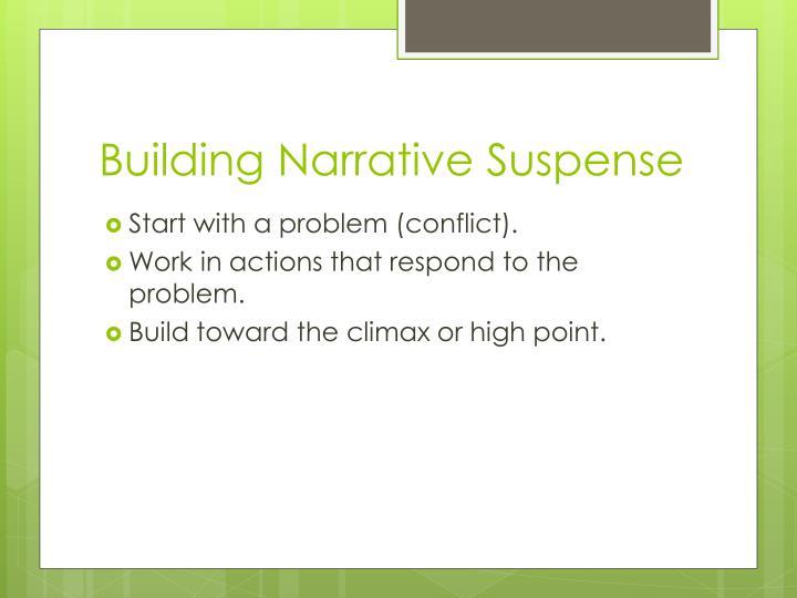 Building Narrative Suspense
