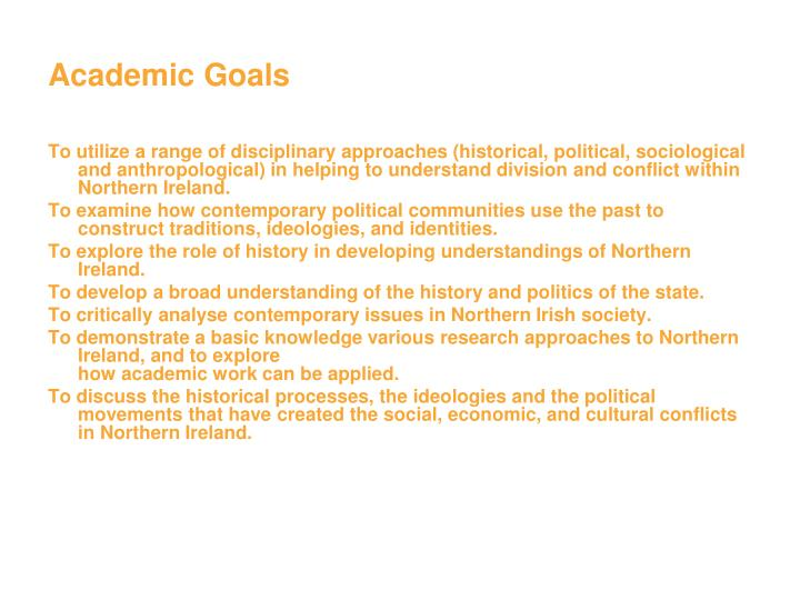 Academic Goals