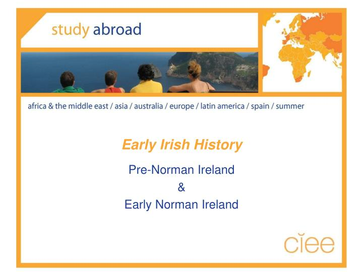 Early Irish History