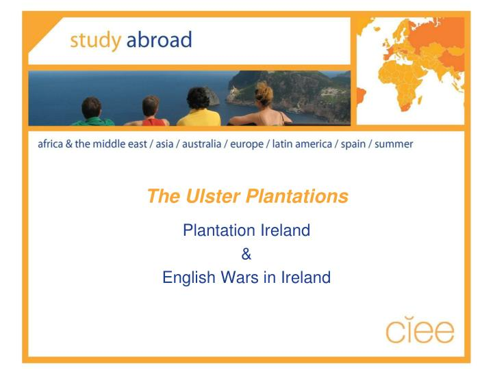 The Ulster Plantations