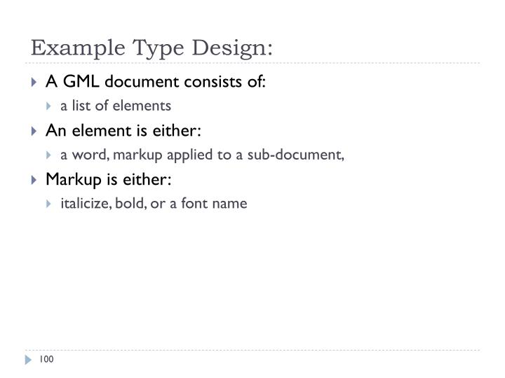 Example Type Design: