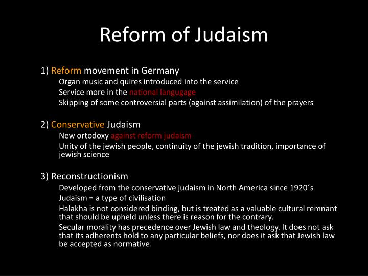 Reform of Judaism