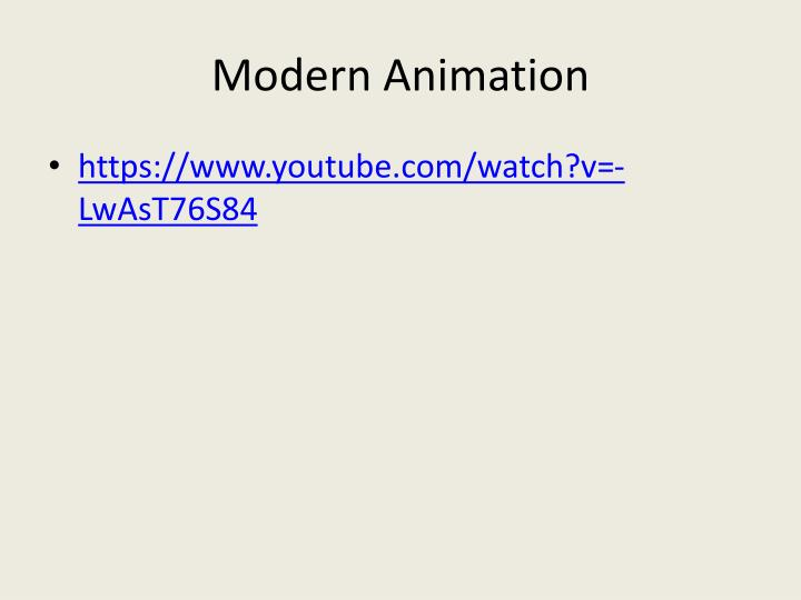 Modern Animation