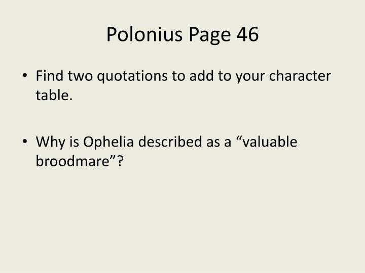 Polonius Page 46