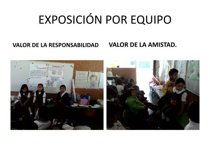 EXPOSICIÓN POR EQUIPO