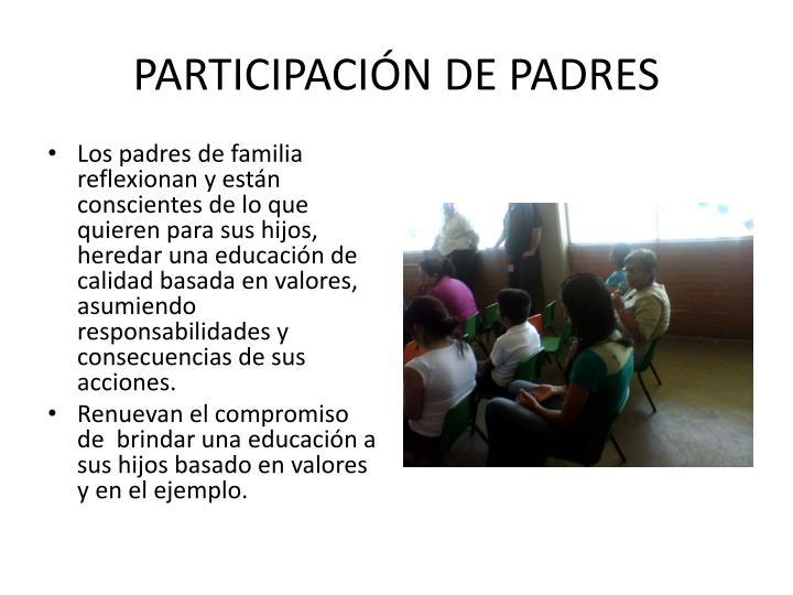 PARTICIPACIÓN DE PADRES