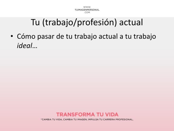 Tu (trabajo/profesión) actual