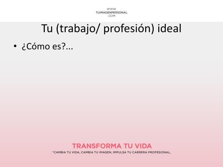 Tu (trabajo/ profesión) ideal