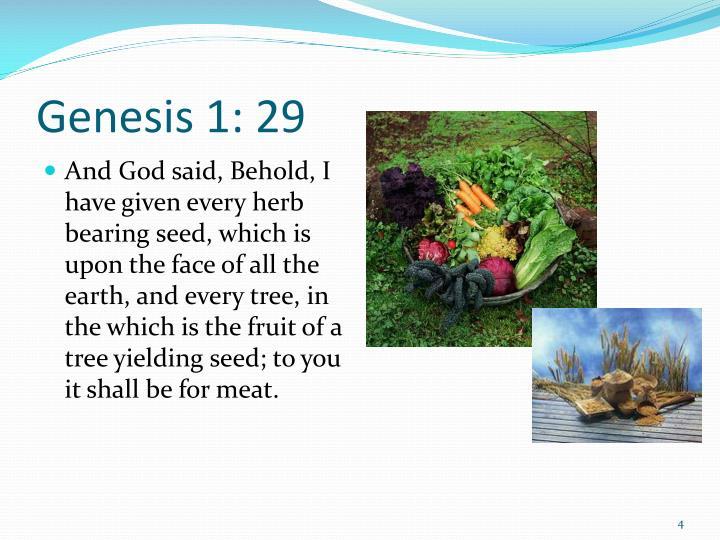 Genesis 1: 29