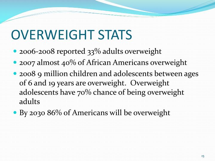 OVERWEIGHT STATS
