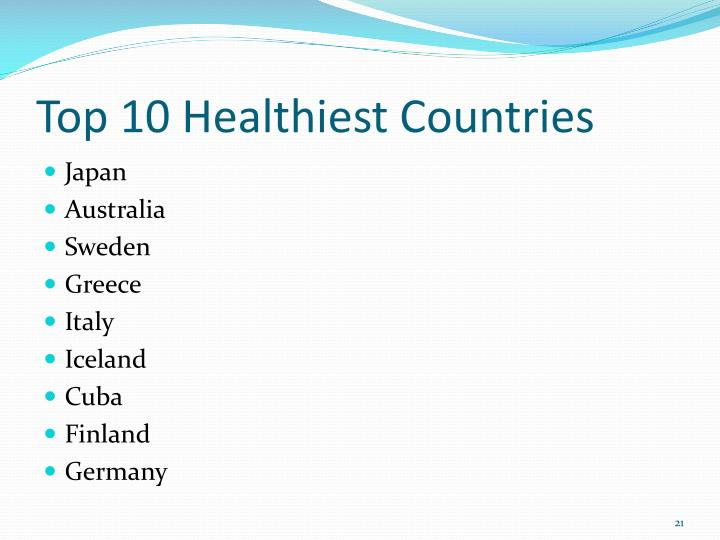 Top 10 Healthiest Countries
