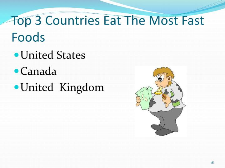 Top 3 Countries Eat The Most Fast Foods