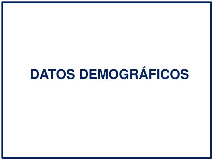DATOS DEMOGRFICOS
