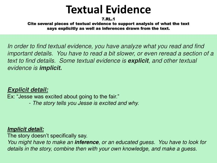 Textual Evidence