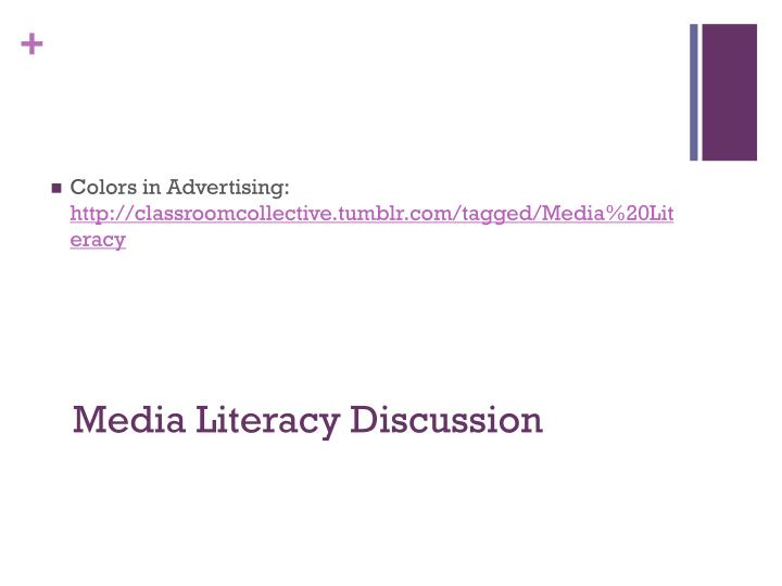 Media Literacy Discussion