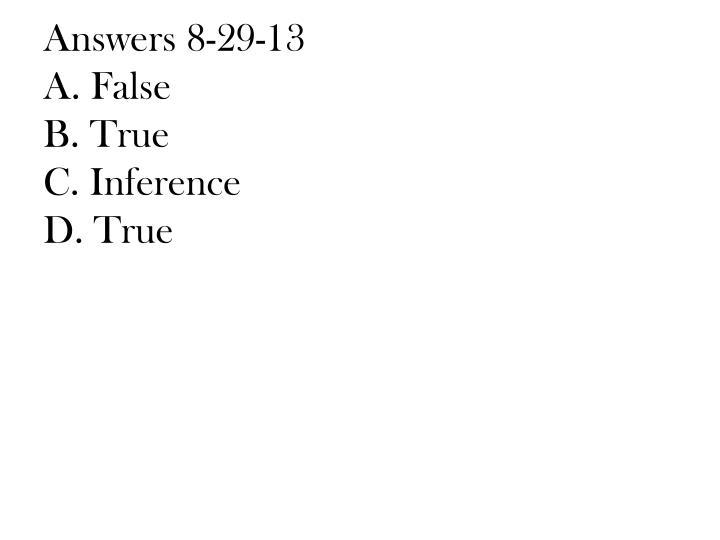 Answers 8-29-13