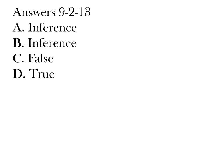 Answers 9-2-13