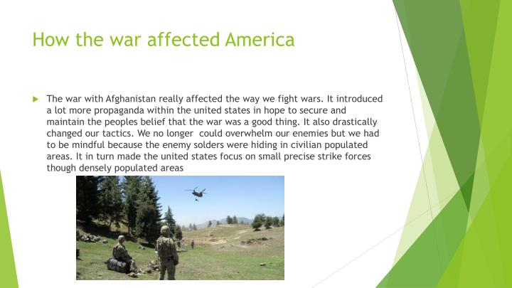 How the war affected America