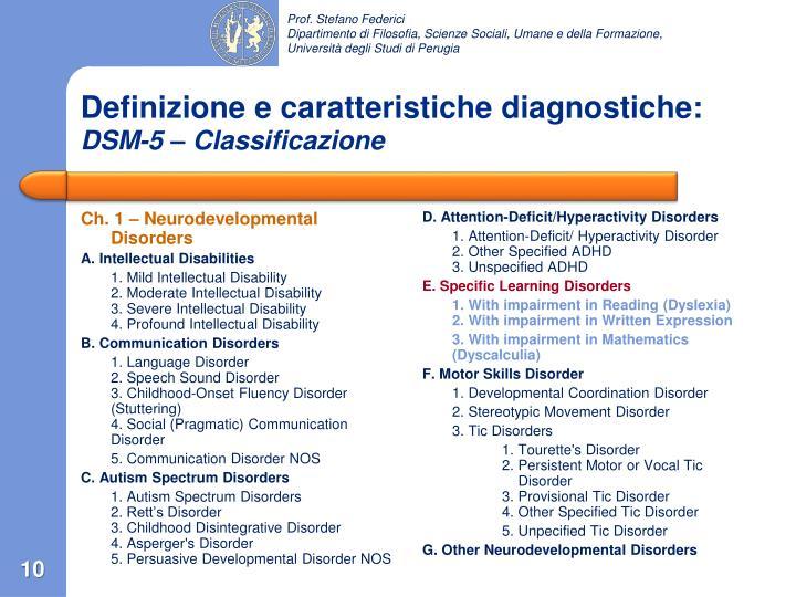 Ch. 1 – Neurodevelopmental Disorders